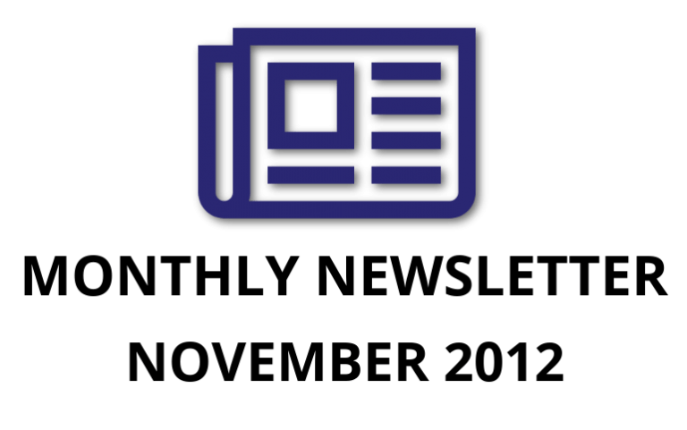 2012-November: Operational Excellence By Design eNewsletter