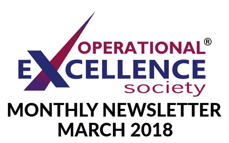 2018-March: Operational Excellence by Design eNewsletter