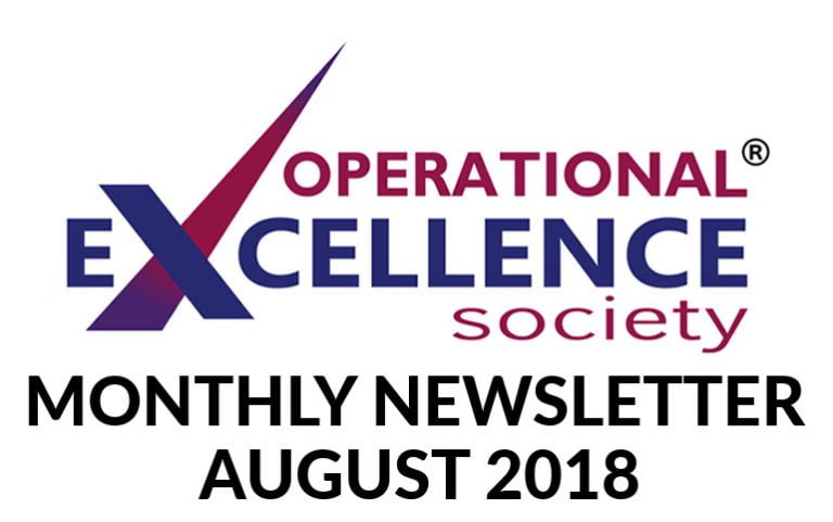 2018-August: Operational Excellence by Design eNewsletter