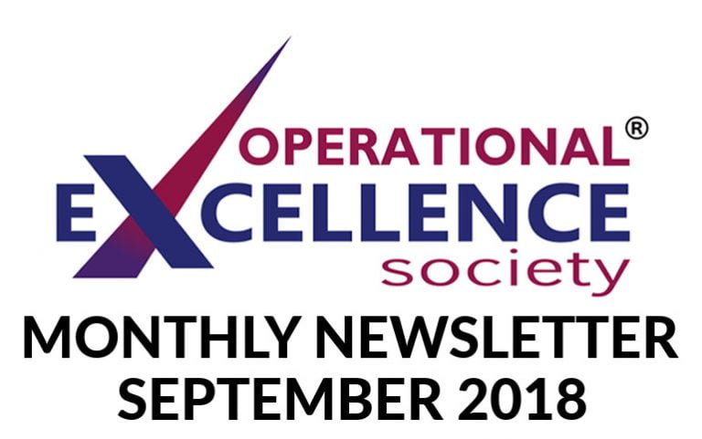 2018-September: Operational Excellence by Design eNewsletter