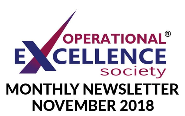 2018-November: Operational Excellence by Design eNewsletter