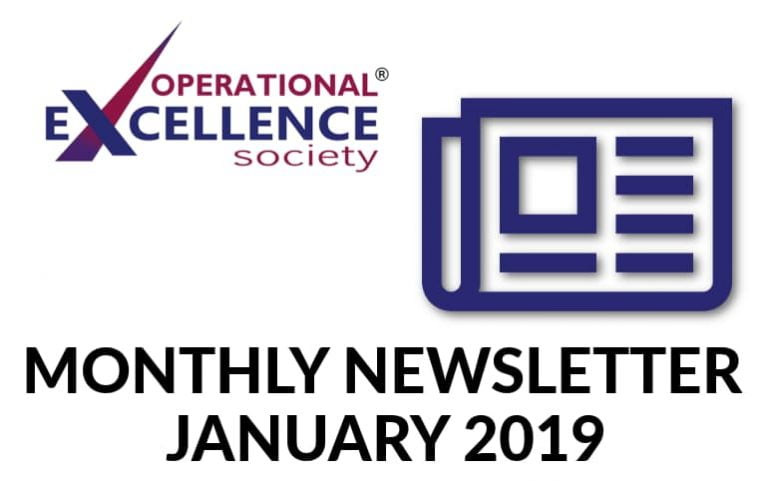 2019-January: Operational Excellence by Design eNewsletter