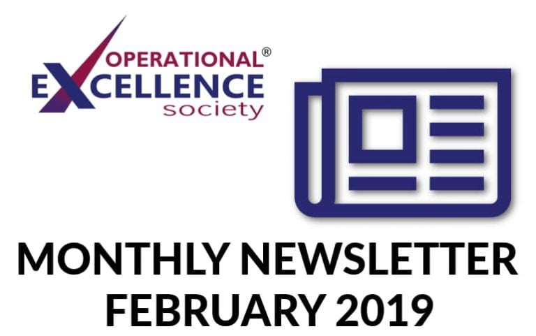 2019-February: Operational Excellence by Design eNewsletter