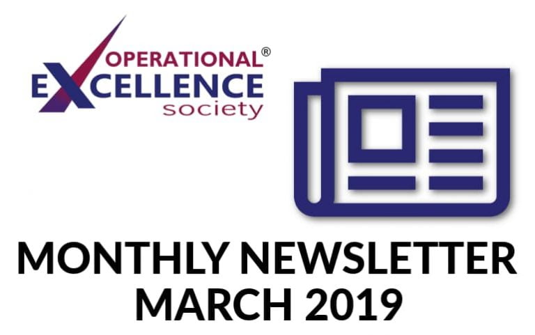 2019-March: Operational Excellence by Design eNewsletter