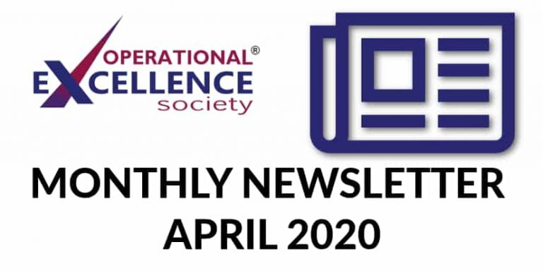 Operational Excellence by Design eNewsletter – April 2020