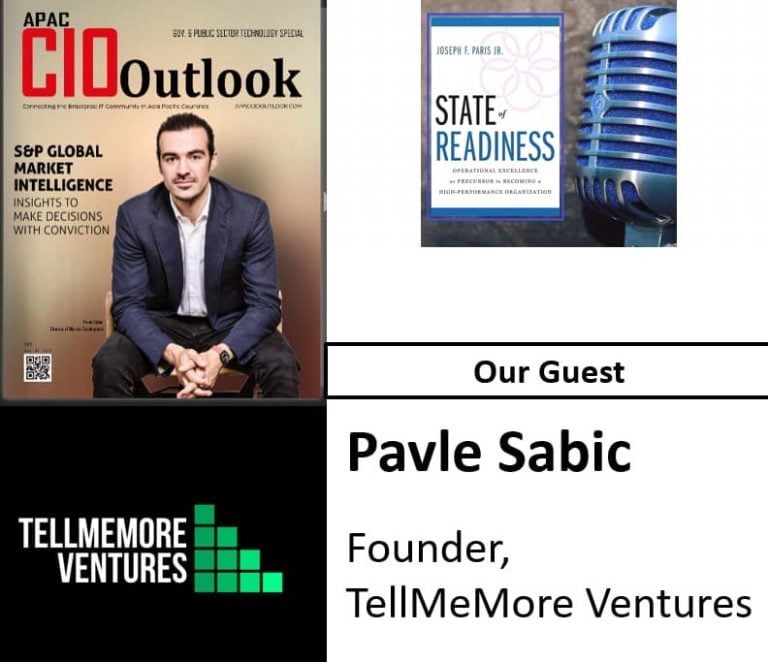 State of Readiness; Pavle Sabic, Tell Me More Ventures