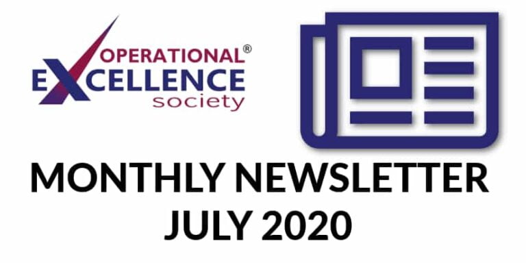 Operational Excellence by Design eNewsletter – July 2020